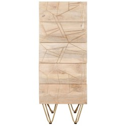 Tanda Light Gold Tall Chest of Drawers, front view