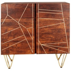 Tanda Dark Gold Medium Sideboard, front view