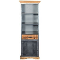 Brompton Industrial Narrow Bookcase, front view