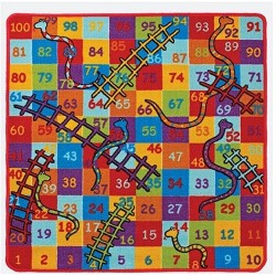 Snakes and Ladders Rug Top View