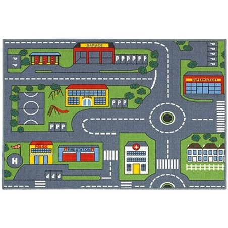 Road Map Rug Top View