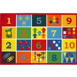 Numbers Rug Top View