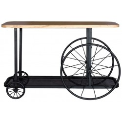 Pinden Craft Wheel Console Table, front view