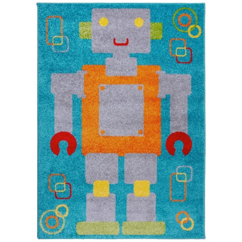 Retro Robot Rug