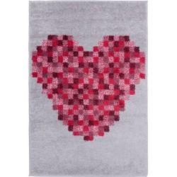 Pink Pixel Heart Rug