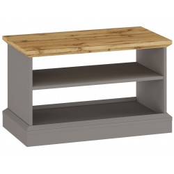 Elham Coffee Table in grey and oak, white background