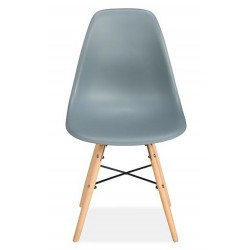 Henlow Pair of Dining Chairs in grey, front view
