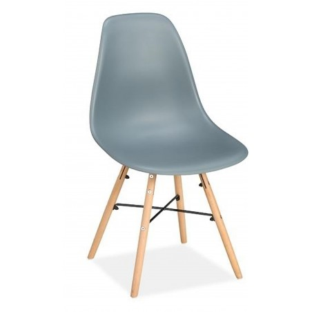 Henlow Pair of Dining Chairs in grey, angle view