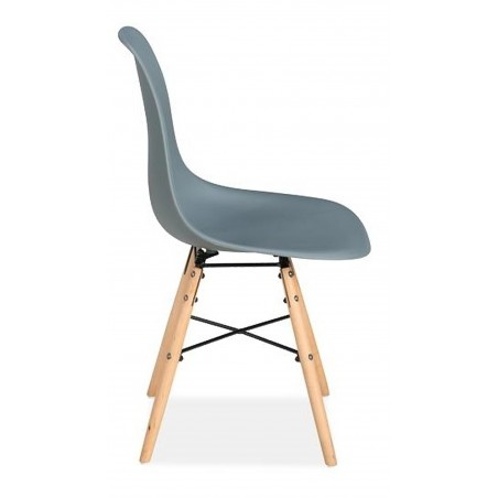 Henlow Pair of Dining Chairs in grey, side view