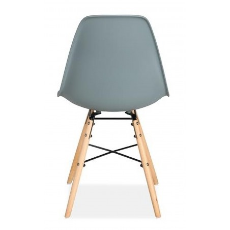 Henlow Pair of Dining Chairs in grey, rear view