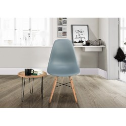 Henlow Pair of Dining Chairs in grey, room shot 1