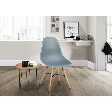 Henlow Pair of Dining Chairs in grey, room shot 2