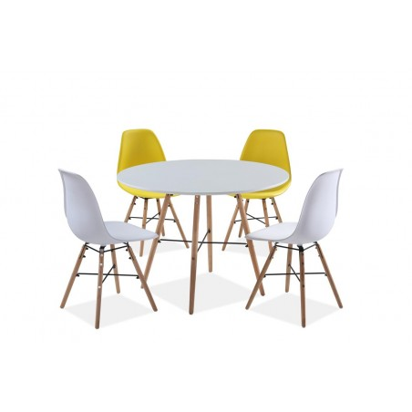 Table and chair set, white background