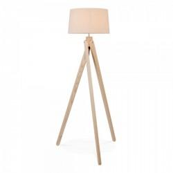 Tripod Floor Lamp- Solid Wood  Beech Finish