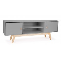 Hythe TV Unit in grey, angle view