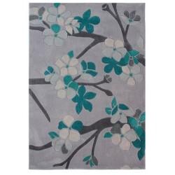 Medway Teal Floral Rug