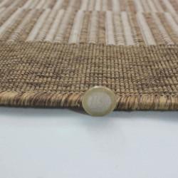 Kyrta Flat Weave Rug - Natural Pile Detail