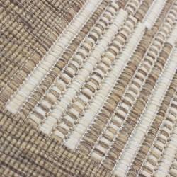 Kyrta Flat Weave Rug - Natural Pattern Detail
