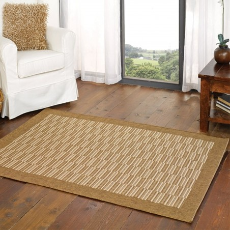 Kyrta Flat Weave Rug - Natural Room Shot