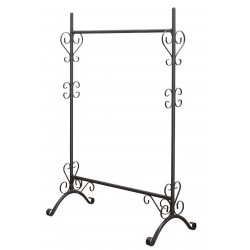 Norwell Hanging Rail in black, angle view