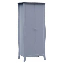 Mende 2 Door Wardrobe in grey, angle view