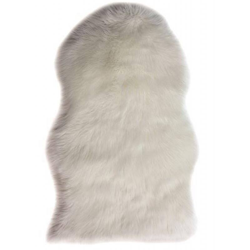 An image of Esme Faux Fur Sheepskin Rug - Cream - 60cm x 90cm