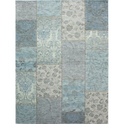 Thea Patchwork Chenille Rug  - Duck Egg