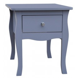 Mende 1 Drawer Bedside in grey angle view