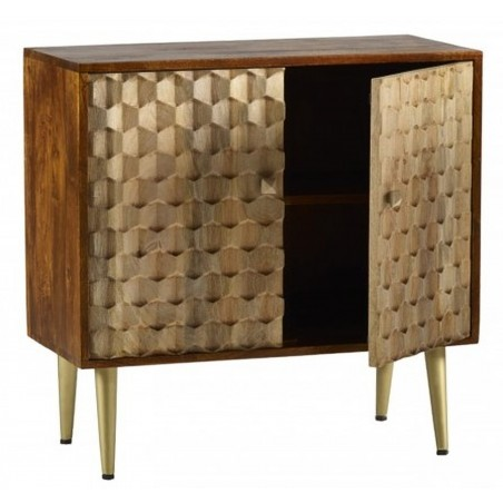 Cherla Medium Sideboard, open door detail