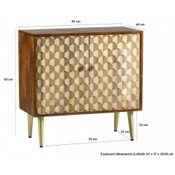 Cherla Medium Sideboard, dimensions
