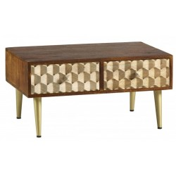 Cherla Coffee Table with 2 Drawers, angle view