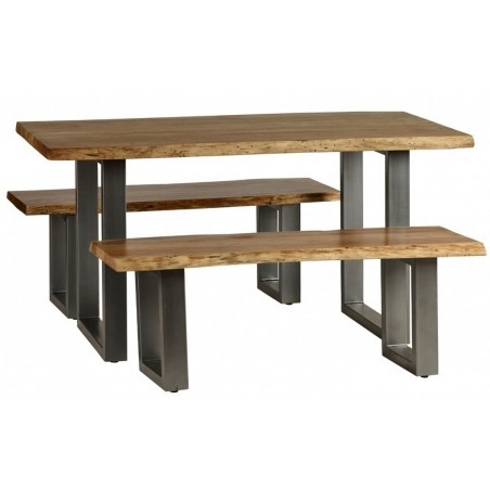 Reims Medium Dining Table, with benches shot