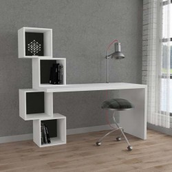 An image of Estable Home Office Desk White and Anthracite
