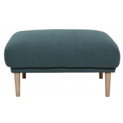 Kempsey Footstool with oak legs in dark green