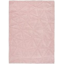 Patan Hand Carved 3D Triangle Rug - Pink