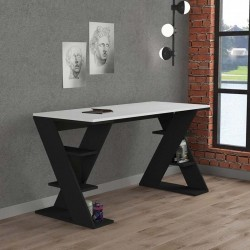 An image of Mariposa Home Office Desk White and Anthracite