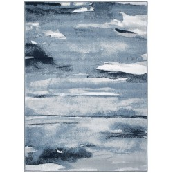 Nohar Abstract Rug - Blue
