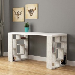 An image of Laberinto Home Office Desk White and Ancient White