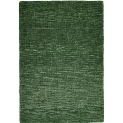 Dolfor Country Tweed Plain Rug - Green