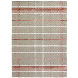 Domie Tartan Style Rug - Red/Natural