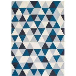 Talparo Geometric Multi Rug - Blue
