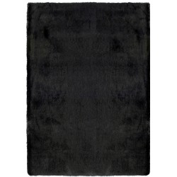 Ohio Lustrous Faux Fur Rug - Black