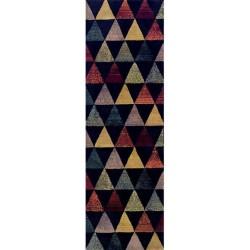 Volpa Triangular Patterned Runner - Black
