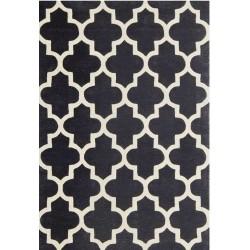 Tisno Patterned Rug - Black