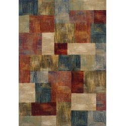 Kepno Square Patterned Rug