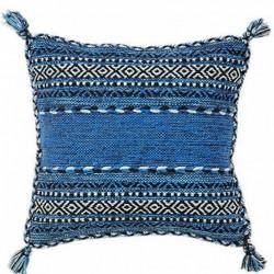 Krakow Striped Cushion Blue
