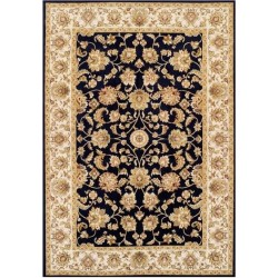 Sumy Floral Bordered Rug - Black