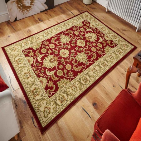 Sumy Patterned Rug - Red Room Shot