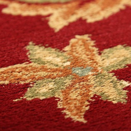 Sumy Patterned Rug - Red Pattern Detail