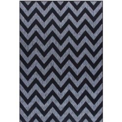 Kerch Zigzag Rug - Black
